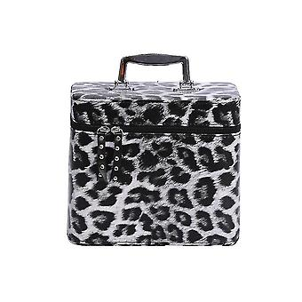 Cosmetic toiletry bags large capacity cosmetic case with handle 23x16.5X20cm silver
