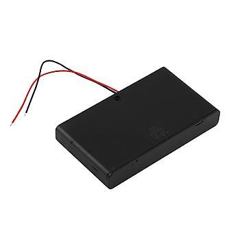 Пластиковый 8 * aa Батарейный чехол для хранения коробки держатель с вкл / выкл Swith & Wire Leads