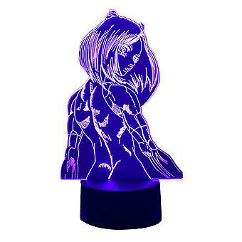 Anime Led Light Violet Evergarden Do sypialni Decor Night Light Prezent urodzinowy Dla Dzieci Pokój 3D Biurko Lampa Manga Violet Evergarden