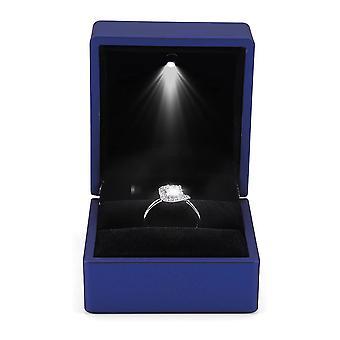 Led verlichte ring doos oorbel ring cadeau geval trouwring sieraden