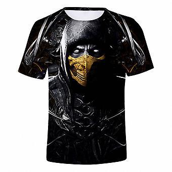 Mortal Kombat Violent Fighting Mortal Kombat Game 3d Digitale Kleur Afdrukken Katoen Hoodie