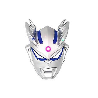 Halloween Tegneserie Siro Cos Anime Barnefest Forsyninger Ultraman Glødende Maske-sølv Blå Øye Glødende Maske