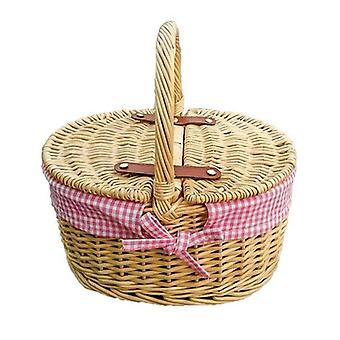 Childs Picnic Basket with Pink lining