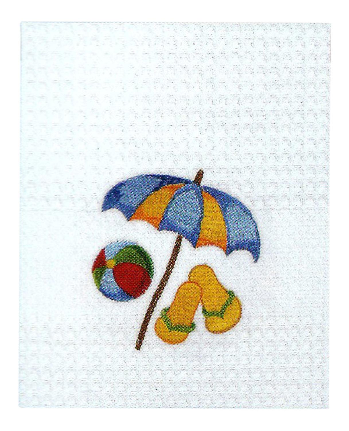 Beach Umbrella Flip Flops Beach Ball Kitchen Towel