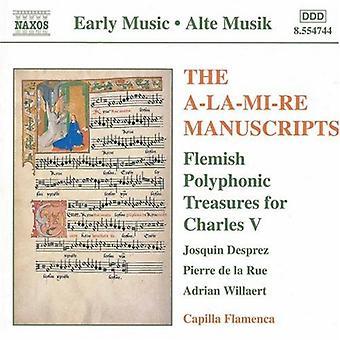Gascogn/Fevin/Desprez/Moulu/Wi - The a-La-MI-Re Manuscripts [CD] USA import