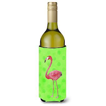 Flamingo grüne Polkadot Wein Flasche Beverge Isolator Hugger