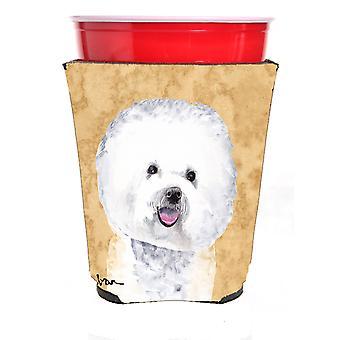 Carolines Treasures  SC9135RSC Bichon Frise Red Solo Cup Beverage Insulator Hugg