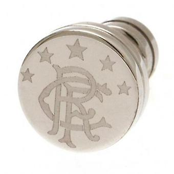 Rangers Stainless Steel Stud Earring