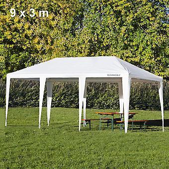 Slimbridge Fontwell 9 x 3 meter pavillon, hvid