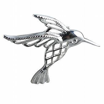 Zilver 30x40mm Humming bird Broche