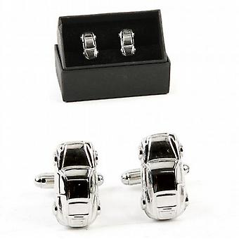 Classic Sports Car Chrome Cufflinks in gift box