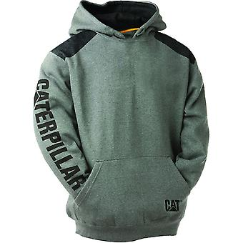 CAT Workwear Mens Logo Panel Cotton/Polyester Hooded Sweatshirt