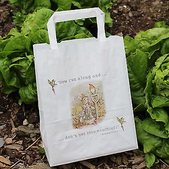 Peter Rabbit Party Bags White with Handles x 10 Happy Birthday / Gift Bags