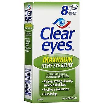 Olhos claros máximo comichão ocular