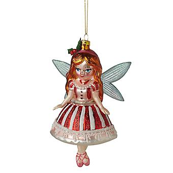 Midwest CBK Sugar Plum Fairy Glass Christmas Holiday Ornament 6 Inches
