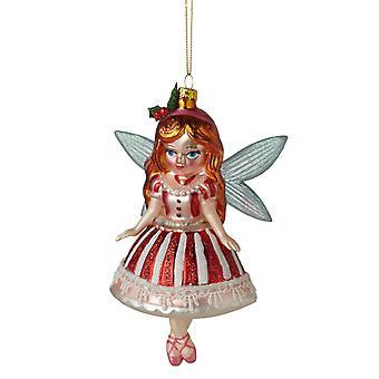 Midwest CBK Sugar Plum Fairy glas kerstvakantie Ornament van 6 inch