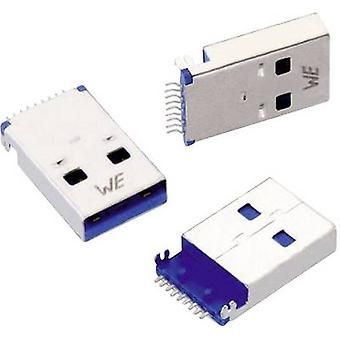 USB 3.0 A-tyypin liitin SMD maannut kiinnitin WR-COM pistorasia, horisontaaliset mount WR-COM Würth Elektronik sisältö: 1 PCs()