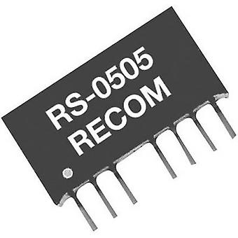 REKOM RS-4805S 2W DC/DC omvandlare, SIP4 RS-4805S 5 V 400 mA 2 W
