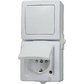 Kopp 138502009 Interruptor de sala húmeda gama de productos Interruptor/socket combo