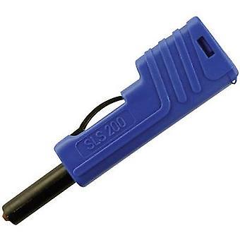 SKS Hirschmann SLS 200 Jack spina, dritto perno di diametro: 4 mm blu 1/PC