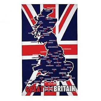 Union Jack use toalla de té de mapa de Gran Bretaña
