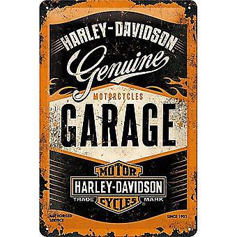 Harley Davidson autotalli kohokuvioitu metalli allekirjoittaa 300 X 200 Mm