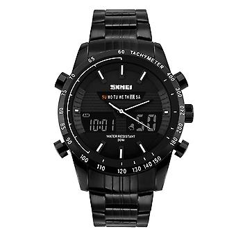 Skmei Mens Large Dual Time Display Sports Watch 30m