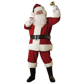 Nicholas Santa Santa Claus instellen 7pcs deluxe kostuum Kit