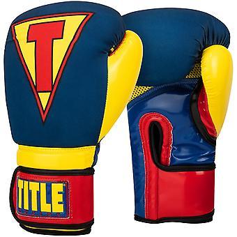 Infusé de titre boxe gants de boxe d'entraînement mousse - héros