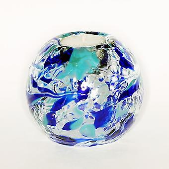 Round Globe Tealight Holder - Aquamarine by Milford Collection