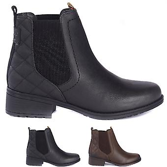 Womens Barbour Rimini Chelsea Leather Winter Work Casual Warm Ankle Boots