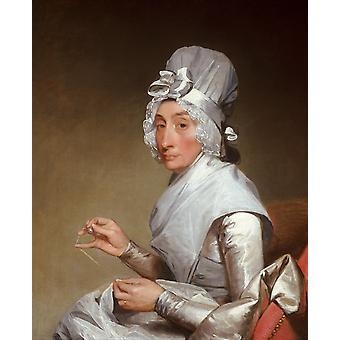 Fru Richard Yates, Gilbert Stuart, 50x40cm