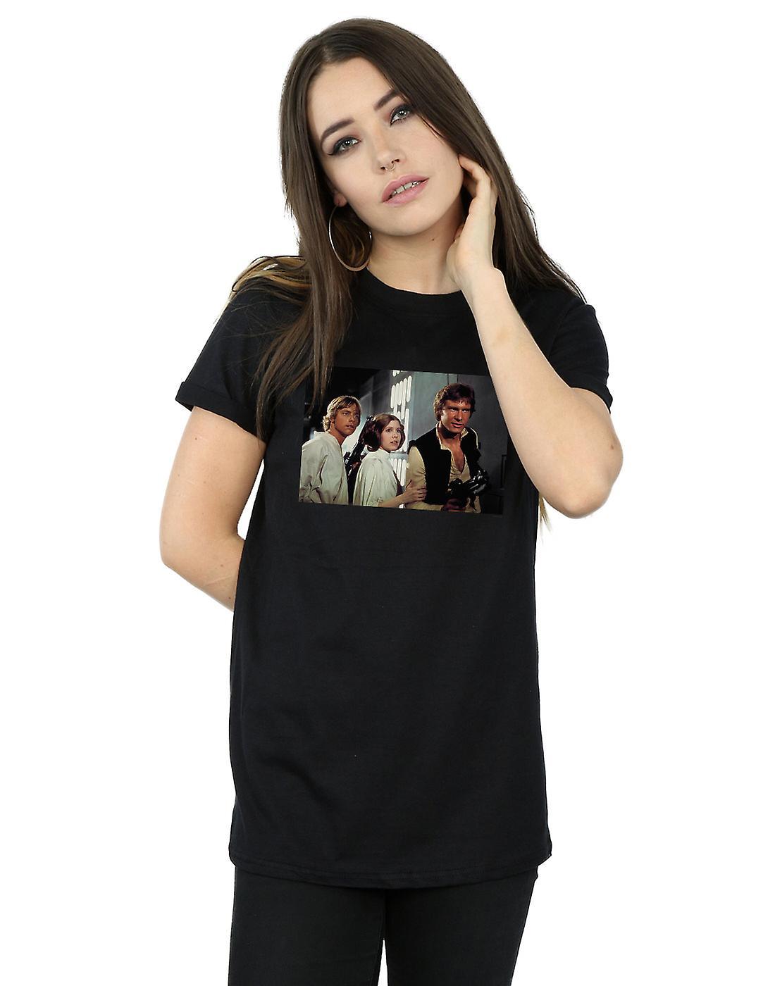 Star Wars Women's Han, Luke And Leia Boyfriend Fit T-Shirt