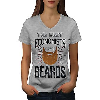 The Best Economist Women GreyV-Neck T-shirt | Wellcoda