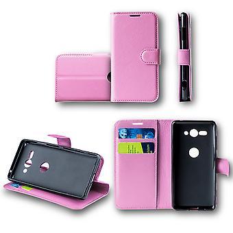 Für Huawei P Smart 2019 / Honor 10 Lite Tasche Wallet Premium Rosa Schutz Hülle Case Cover Etui Neu Zubehör