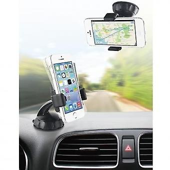 Bundle Muvit car car mount 360°, for windshield fitting incl. Micro-USB car charger