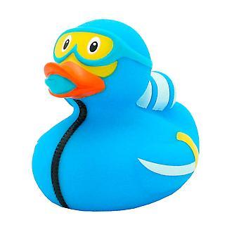 Potápěč s kachnami na koupání, vyrobený z plastu, v Poly-pytli.