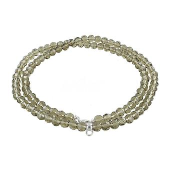 ESPRIT kvinders kæde halskæde charm sølv af taupe sten ESNL91755I800