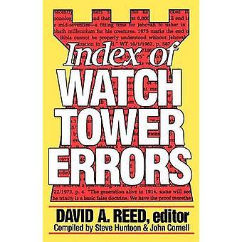 Index des erreurs de la tour de guet - 1879 à 1989 par David A. Reed - Steve Hu