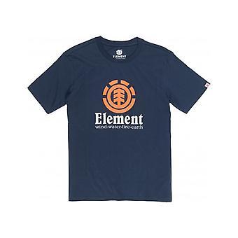 T-shirt vertical à manches courtes d'élément dans la marine d'éclipse