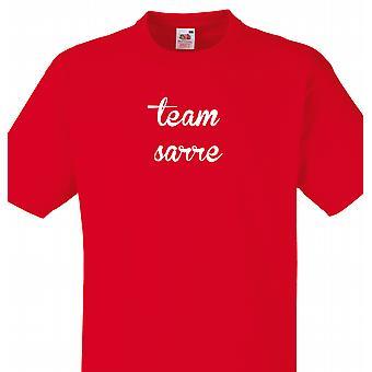 Team Sarre rød T shirt