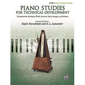 Études de piano pour le développement technique, Vol 1