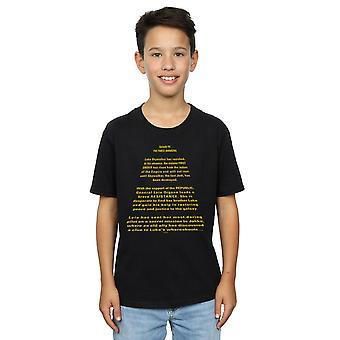 מלחמת הכוכבים בנים הכוח מעורר הפתיחה לזחול חולצת טי