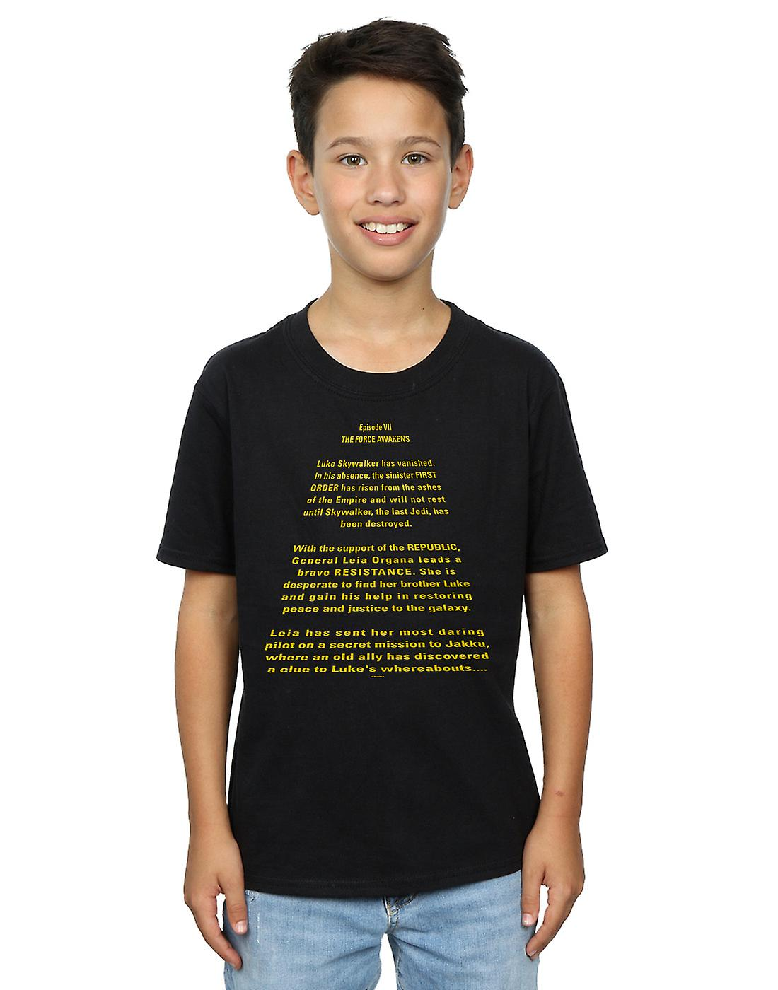 Star Wars Boys The Force Awakens Opening Crawl T-Shirt