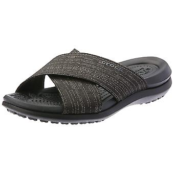 Crocs Women's Capri Shimmer Cross-Band Sandal