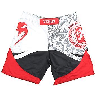 Venum Mens Jose Also Signature Fight Shorts - White/Red