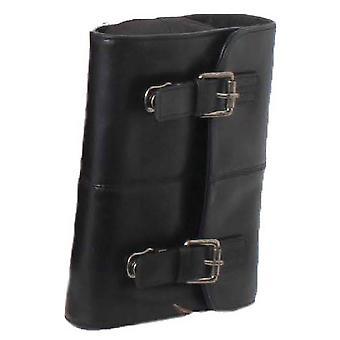 Ashwood Leather Hampstead Cow Rhode Phil Hanging Wash Bag - Black