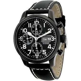 Zeno-watch Herre ur NC pilot Chrono sort 9557TVDD-bk-a1