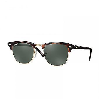 Ray Ban okulary przeciwsłoneczne Rb3016 990/58 49 Clubmaster Red Havana i Crystal Green Polarised okulary przeciwsłoneczne