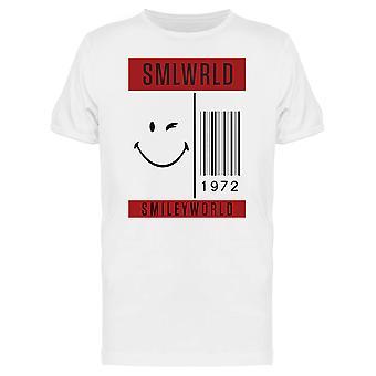 SmileyWorld Barcode 1972 Wink Face Men's T-shirt
